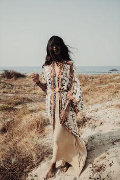 THE WHITE RAVEN//one dusk collection ss18 #kimono #boho #tribal