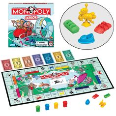 Kid's monopoly. If you can keep all the pieces together it works better! ;)