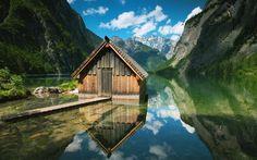 Lataa kuva Norja, mountain lake, kota, fjord, vuoret
