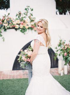 Lace trumpet wedding gown: http://www.stylemepretty.com/2016/11/07/modern-pastel-california-wedding/ Photography: Sposto - http://www.spostophotography.com/