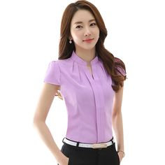 Cheap chiffon shirt, Buy Quality women chiffon shirt directly from China women tops Suppliers: New Arrivals Summer women chiffon shirt Elegant Solid color Short-Sleeved women tops Plus size women chiffon blusas Plus Size Women's Tops, Plus Size Blouses, Chiffon Shirt, Chiffon Tops, White Chiffon, Look Fashion, Fashion Women, Fashion Clothes, Spring Fashion