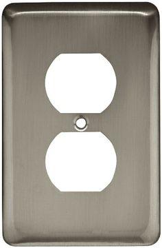 Brainerd 64115 Stamped Round Single Duplex Wall Plate / Switch Plate / Cover, Satin Nickel Brainerd http://www.amazon.com/dp/B000FRUCPQ/ref=cm_sw_r_pi_dp_fazlub0MPWC1V