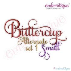 Buttercup Monogram Set Alternates 1 - Small | What's New | Machine Embroidery Designs | SWAKembroidery.com Embroitique