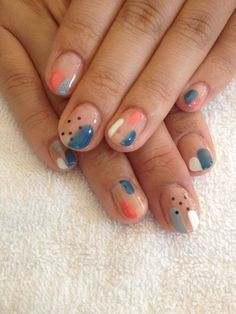 nails - 44 Cute Nail Polish Manicure for Spring Spring Nail Art, Spring Nails, Ten Nails, Cute Nail Polish, Fall Nail Art Designs, Seasonal Nails, Manicure Y Pedicure, Manicure Ideas, Autumn Nails