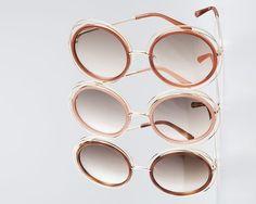 Carlina Trimmed Round Sunglasses