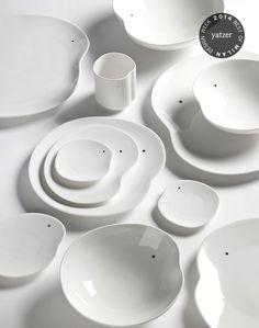 White crockery set by Belgian designer Roel Vandebeek. http://www.yatzer.com/best-of-milan-design-week-2014