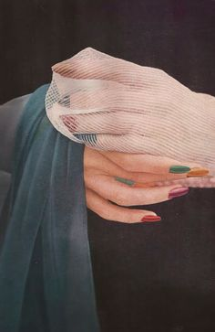 By Saul Leiter, 1960s, stained glass nails.