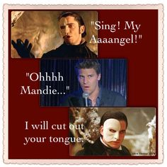 Angel / Phantom of the Opera funny meme