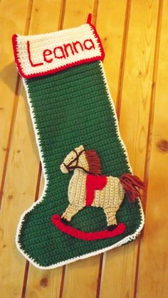 Personalized Crocheted Christmas Stockings by MamaTCrafts on Etsy, $45.00