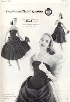 Glamorous Linzi evening wear from 1956