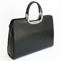 VANI Black Women Ladies Briefcase with Detachable Shoulder Strap NEW WITH DUSTBAG!
