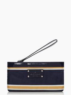 Kate Spade Radcliffe Zippered Chrissy in Navy/Mustard