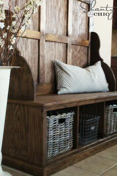 Shanty Hall Tree Bench for the Entryway, or laundry room.