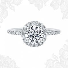 The One, Round Brilliant Diamond Micropavé Engagement Ring   Harry Winston