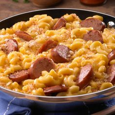 Skillet Mac & Cheese & Kielbasa