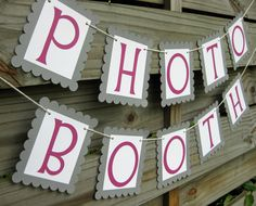 Photo Booth Banner Custom Colors by craftyearth on Etsy but have colors match mr. And mrs.