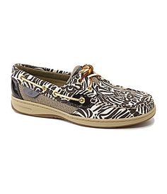 Sperry TopSider Womens Bluefish ZebraPrint Boat Shoes #Dillards