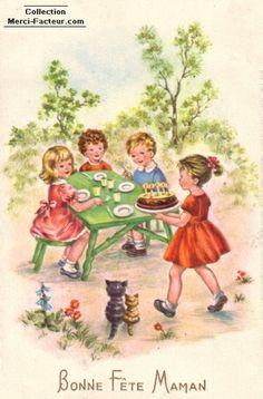Pour la fete des meres enfants et gateau For mom  Happy Mothers Day Aline