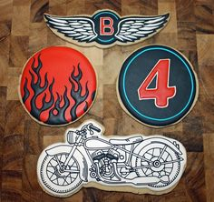 Motorcycle Cookies for Amy Atlas Events (Design by Frog Prince ...