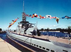 USS Silversides---docked in the channel between Muskegon Lake and Lake Michigan in Muskegon, MI.