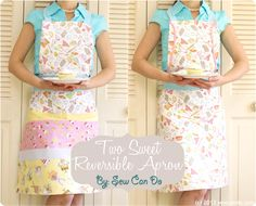 Sew Can Do: Timeless Treasures Fabric Giveaway & Two Sweet Reversible Apron