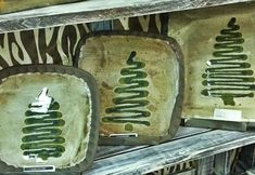 Christmas Tree Plates from Kudzu Pottery.