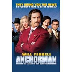 Anchorman-Will Ferrell, Movie Print 8.5ins by 11ins
