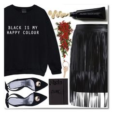 """""""Glow in the Dark"""" by violet-peach ❤ liked on Polyvore featuring Yves Saint Laurent, Nearly Natural and Maison Margiela"""