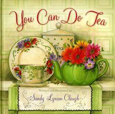 Sandy Clough Scripture Teapot, Tea Cups, Tea Bag Caddies, Serving Tray Tea Set Sandy Clough Prints Emilie Barnes Tea Books