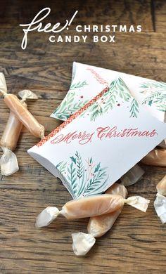 Melissa Esplin: 2016 Christmas Candy Box Printable, Watercolor calligraphy candy box printable. Save this for 2017!