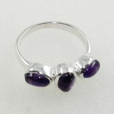 Amethyst Stone Attractive Design 925 Sterling silver Ring by JaipurSilverIndia on Etsy