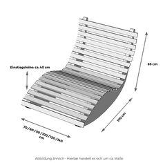 Massivholz Schaukelliege Holzliege Relaxliege Sonnenliege Liege 70-140cm Breite | eBay