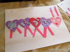 b4. Love Bugs. Turn hearts children cut into love bugs.