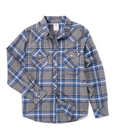 Another great find on #zulily! Castlerock Plaid Western Button-Up - Men & Big by Dickies #zulilyfinds