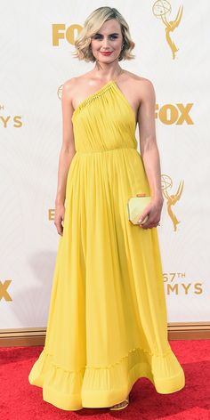 Taylor Schilling - Emmys 2015 Red Carpet Arrivals - in Stella McCartney - from InStyle.com