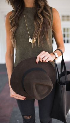 how+to+style+a+brown+hat+:+top+++bag+++rips