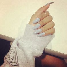 Grey long nails