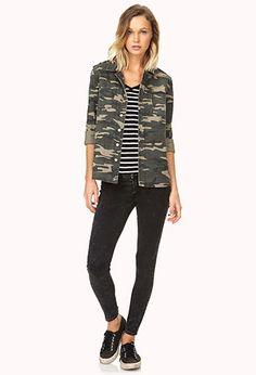 Desert Cutie Camo Shirt Jacket | FOREVER 21 - 2000070833