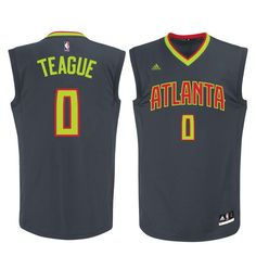 e70b2dda2 Jeff Teague Atlanta Hawks adidas Replica Jersey - Gray