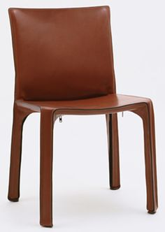 """Cab Side Chair Mario Bellini (Italian, born 1935)  1976. Tubular steel and leather upholstery, 32 1/4 x 18 3/4 x 18 5/8"""" (81.9 x 47.6 x 47.3 cm), seat h. 17 3/4"""" (45.1 cm). Manufactured by Cassina, S.p.A., Milan. Gift of the manufacturer. © 2013 Mario Bellini"""