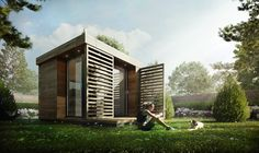 """Garden Office"" by Sergio Mereces CG # Architecture # Render"