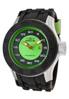Invicta Watch 11942 Men's Pro Diver Green/Black Dial Black Polyurethane #Invicta