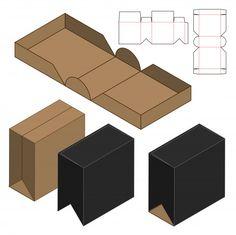 Design de modelo de corte de caixa de embalagem | Baixar vetores Premium Tea Packaging, Packaging Design, Foam Crafts, Diy And Crafts, Paper Box Template, Origami Templates, Box Templates, Printable Box, Cardboard Packaging