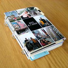 LOVE this simple idea... Mixed paper memory book -- Way easier than scrapbooking!