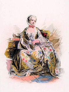 Madame de Pompadour wearing a Contouche.