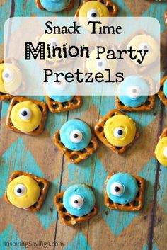 These adorable Party Pretzels will have your little Minions fans smiling. The are easy to make. Will make an adorable addition to your Despicable Me Party.