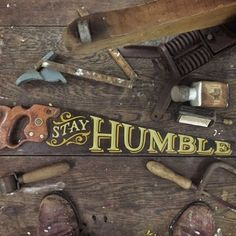 Tj Pinstriping: Stay Humble handsaw