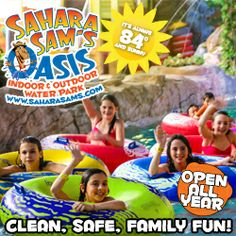 Sahara Sam's Oasis Indoor & Outdoor WaterPark March Events -