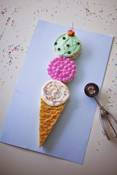 """""""Ice Cream"""" Cake with so many flavors"""