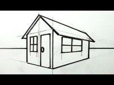 Dessiner en perspective intérieure table chaises fenêtre - YouTube